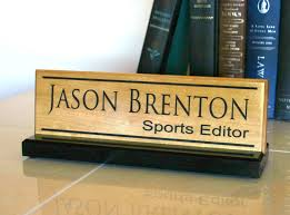 desk personalized name plate executive beveled glass nameplate engraved