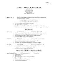 Chronological Resume Samples Berathen Com