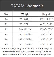 Tatami Belt Size Chart Tatami Zero G V3 Womens Jiu Jitsu Gi