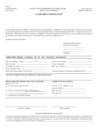 Rental Rental Verification Form Landlord Template It Resume Cover