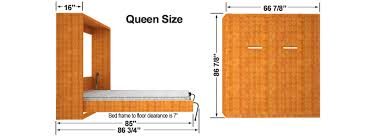 Width Of Queen Bed Diy Murphy Bed Finished Cabinet Dims Easy Diy Murphy Bed