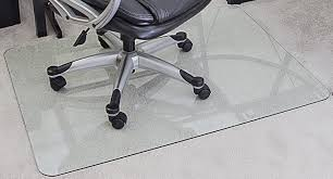 com myglassmat 36 x 48 inch tempered glass chair mat for carpet and hard floors rounded corners smooth polished edges 1 4 inch thick