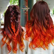 Image result for orange ombre hair
