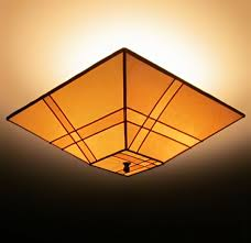 pieced parchment paper square ceiling lamp shade