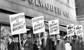 civil rights and the changing world humanities woolworth building in new york city being picketed 1960