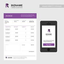 Web Design Invoice Custom Professional Invoice Design Of Company With Purple Theme And