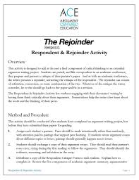respondent rejoinder research paper presentations a  click here to the respondent rejoinder activity