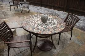 outdoor furniture stone table top. mosaic patio table and chairs rpht outdoor furniture stone top r