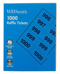 Raffle Ticket Booklets Whsmith Raffle Tickets Pack Of 1000