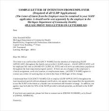 Letter Of Intent For A Job Templates 19 Free Sample Example Letter