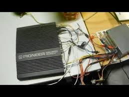 how to wire pioneer gm 3000 car power amplifier [pinout] youtube
