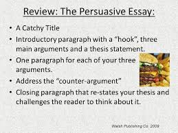 persuasive writing ms weber ppt  review the persuasive essay