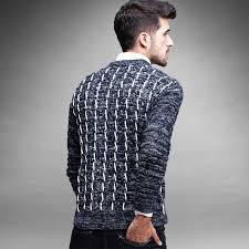 Men's Sweater Patterns Amazing 48 New Winter Men's Pullover Cotton Sweater Fashion Design Mens