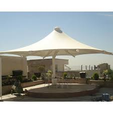white plain decorative outdoor garden restaurant sun patio umbrella