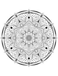 Disegno Di Mandala Da Colorare Disegni Da Colorare E Stampare Gratis