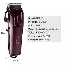 Tông đơ cắt tóc Kemei KM 2600 - không dây có thể cắt tóc cạo râu tỉa lông  mũi tạo kiểu tóc... sạc nhanh chỉ 2h