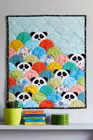 Best 25+ Kid quilts ideas on Pinterest | Baby quilts, Boy quilts ... & Project Panda - Love & Patchwork iss what a creative idea for a child's  clamshell quilt-- with the panda fabric for backing! Adamdwight.com