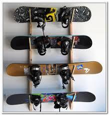 diy snowboard rack cosmecol ski and snowboard storage racks for garage designs