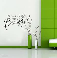 be your own kind of beautiful wall quote decal decor sticker vinyl wall art stickers  on beautiful wall art decor with be your own kind of beautiful wall quote decal decor sticker vinyl