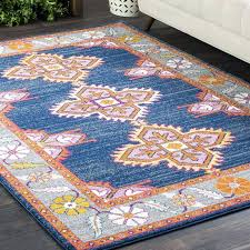 bungalow rose rugs blue