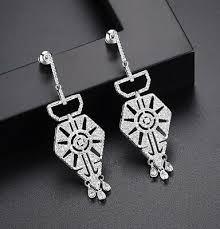 red paste drop crystal earrings uk