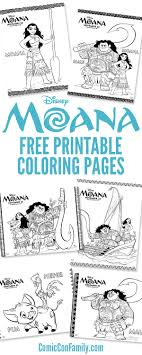 This moana coloring pages article contains affiliate links. Free Printables Disney Moana Coloring Pages Comic Con Family