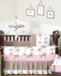 pink elephant crib bedding set mod elephant pink baby crib bedding boutique pink gray elephant 13pcs