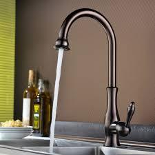 tracier single handle gooseneck vintage kitchen sink faucet