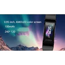 Vòng đeo tay thông minh Huawei Band 4 pro có thể theo dõi nhịp  tim/GPS/lượng oxy trong máu SpO2