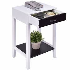 Modern coffee tables white Storage Goplus Side Table For Sofa Bed Living Room Modern Coffee Table White Bedroom Bedside Tables With Drawer Nightstands Hw55475 Aliexpress Goplus Side Table For Sofa Bed Living Room Modern Coffee Table White
