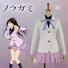 Noragami Height Chart Noragami Iki Hiyori School Uniform Cosplay Costume Adult Women Lavender Academy Uniform Outfit