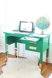 small corner writing desk uk revamped and upcycled green and gold desk love a great baylor