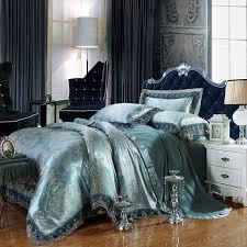 luxurious and elegant dark teal bedding