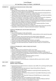 Pharmacy Resume Samples Oncology Pharmacist Resume Samples Velvet Jobs