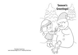 christmas card color pages christmas coloring cards printable free with pages bing images adult