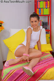 Petite Shaved Teen Brunette Abelinda with Dilated Sphincter Giving.