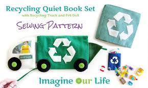 recycling quiet book set digital sewing pattern