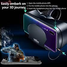 Kính VR Thực Tế Ảo Vrg Pro 3D, Kính VR Góc Rộng Có Hình Ảnh Toàn Màn Cho  Thiết Bị Điện Thoại Thông Minh 5 Đến 7 Inch, Kính Thực Tế Ảo