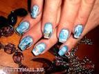 Роспись ногтей зимний