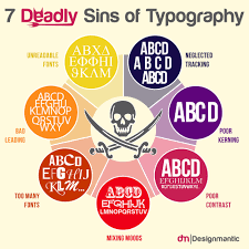 Rules Of Typography Design 7 Deadly Sins Of Typography Designmantic The Design Shop