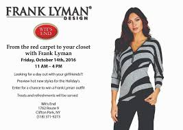 Frank Lyman Design 2016 Tag Frank Lyman Wits End