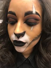 my makeup of scar from the lion king