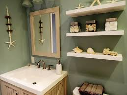 Bathroom Beach Accessories Beach Themed Bathroom With Seashell Accessories And Floating