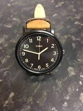 timex indiglo mens watch timex indiglo originals t2n677 mens black tan classic round watch rrp £59 99