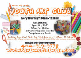 crafts classes for kids flyers seven arts center get in touch 404 919 9778