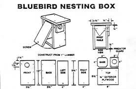 bluebird house plans. Bluebird Nesting House Plans L