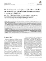Korean Weight Chart Pdf Effects Of Atomoxetine On Height And Weight In Korean