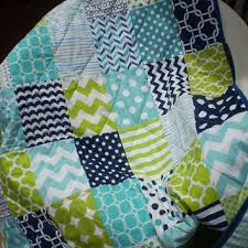 Shop Modern Baby Boy Quilts on Wanelo & Nautical Baby quilt,navy blue,teal,aqua,lime green,Baby boy Adamdwight.com