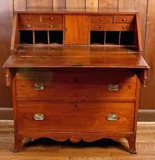 antique secretary desk with bookcase mahogany china cabinet side
