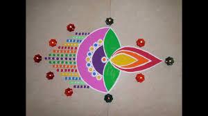 Easy Diya Rangoli Designs For Diwali Bizarre Diya Rangoli On Diwali Occasion Diya Rangoli